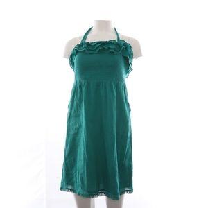 Maeve Halter Top Mini Dress Green S
